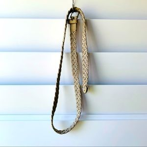 Barneys NY Braided Suede Belt